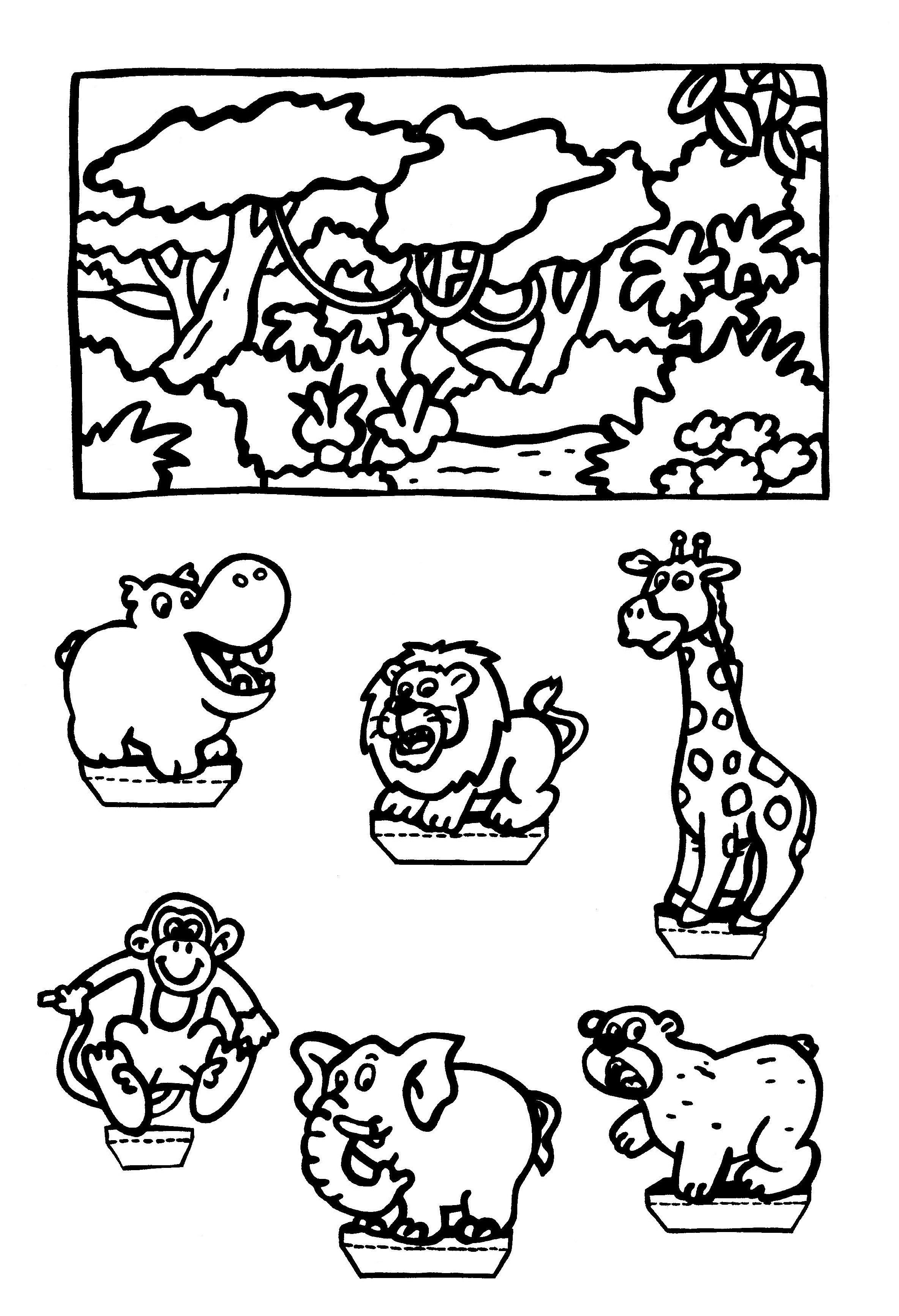 Kleurplaten Thema Dieren.Kleurplaten Thema Dieren Kleurplaten Creatief Met Kinderen